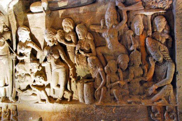 3190-阿姜塔石窟-26號洞窟室內牆壁雕像.JPG